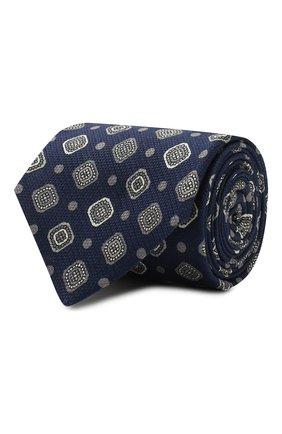 Мужской шелковый галстук KITON темно-синего цвета, арт. UCRVKLC08F85 | Фото 1
