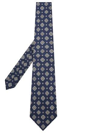 Мужской шелковый галстук KITON темно-синего цвета, арт. UCRVKLC08F85 | Фото 2