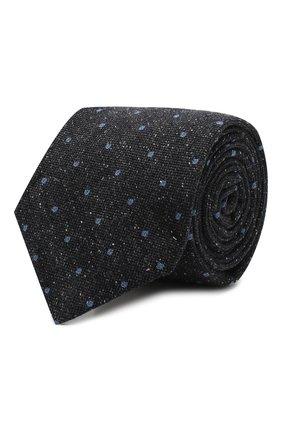 Мужской галстук из смеси шерсти и шелка KITON темно-синего цвета, арт. UCRVKLC09F34 | Фото 1