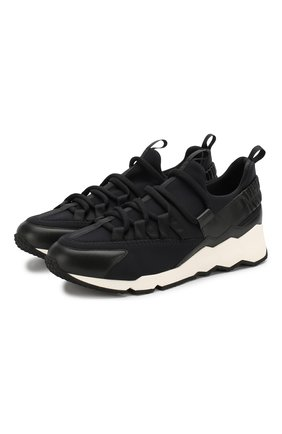 Мужские комбинированные кроссовки PIERRE HARDY черного цвета, арт. LX01X/NE0PRENE-CALF   Фото 1