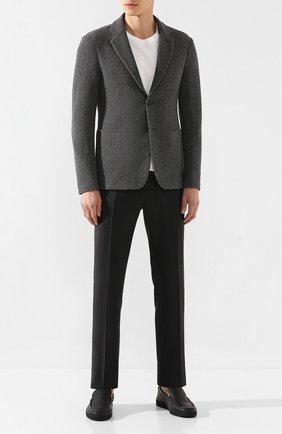 Мужские кожаные лоферы ERMENEGILDO ZEGNA черного цвета, арт. A4281X-LHCV0 | Фото 2