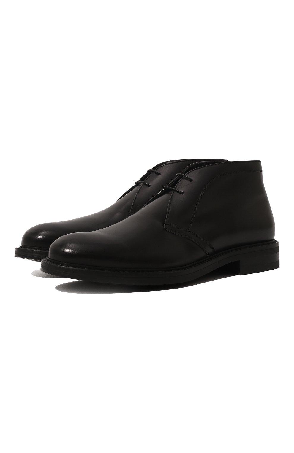 Мужские кожаные ботинки W.GIBBS черного цвета, арт. 3169005/0215 | Фото 1
