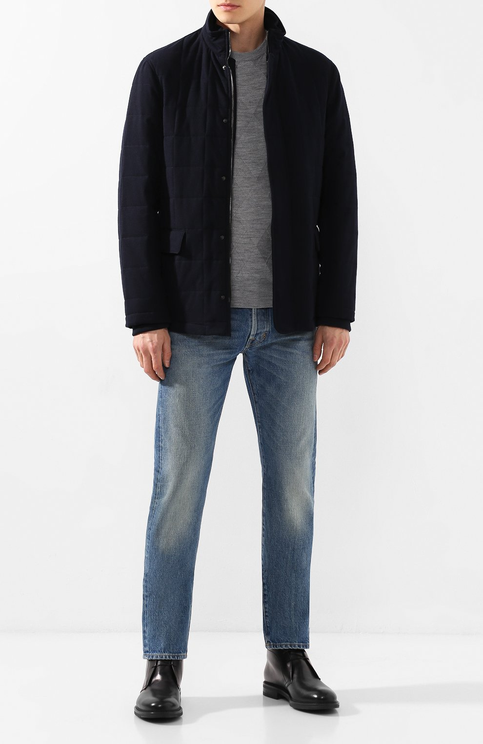 Мужские кожаные ботинки W.GIBBS черного цвета, арт. 3169005/0215 | Фото 2
