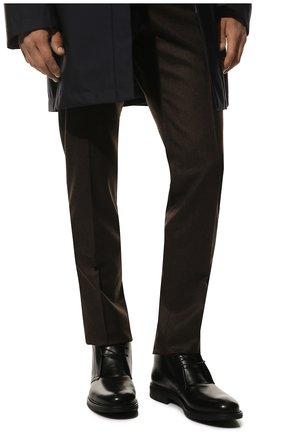 Мужские кожаные ботинки W.GIBBS черного цвета, арт. 3169005/0215 | Фото 3
