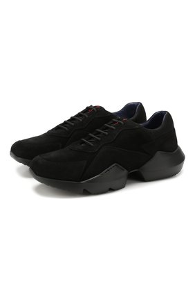 Мужские замшевые кроссовки KNT черного цвета, арт. USSK014N00426 | Фото 1