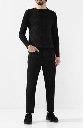 Мужские замшевые кроссовки KNT черного цвета, арт. USSK014N00426 | Фото 2