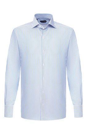 Мужская хлопковая сорочка TOM FORD голубого цвета, арт. 6FT633/94S3AX | Фото 1