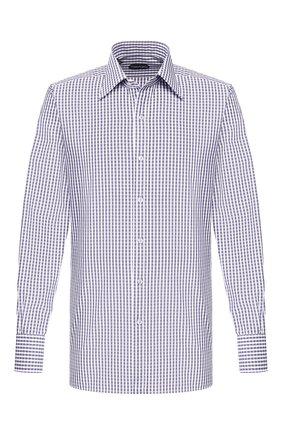 Мужская хлопковая сорочка TOM FORD сиреневого цвета, арт. 6FT641/94C1JE | Фото 1