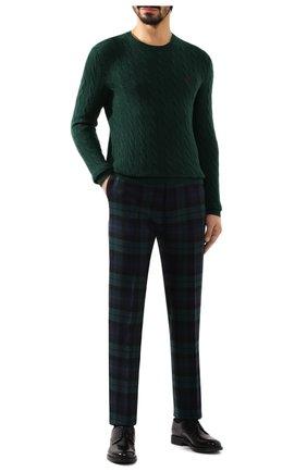 Мужской свитер из шерсти и кашемира POLO RALPH LAUREN зеленого цвета, арт. 710719546 | Фото 2 (Длина (для топов): Стандартные; Материал внешний: Шерсть; Принт: Без принта; Рукава: Длинные; Статус проверки: Проверена категория; Мужское Кросс-КТ: Свитер-одежда)