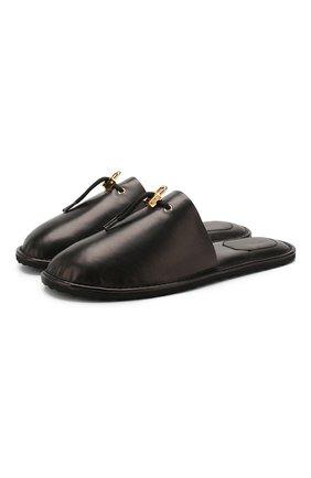 Кожаные домашние туфли | Фото №1