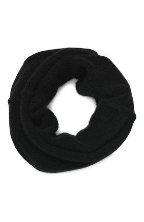 Мужской шерстяной шарф-снуд ISABEL BENENATO черного цвета, арт. UK75F19 | Фото 1