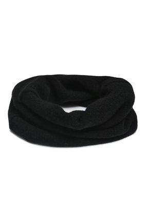 Мужской шерстяной шарф-снуд ISABEL BENENATO черного цвета, арт. UK75F19 | Фото 2