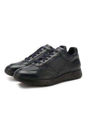 Мужские кожаные кроссовки ANDREA CAMPAGNA синего цвета, арт. 302010.228.94 | Фото 1
