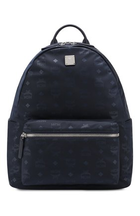 Мужской текстильный рюкзак stark MCM темно-синего цвета, арт. MUK 7ADT10   Фото 1