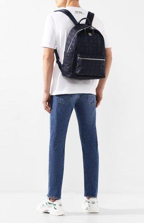 Мужской текстильный рюкзак stark MCM темно-синего цвета, арт. MUK 7ADT10   Фото 2