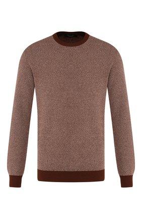 Мужской кашемировый джемпер LORO PIANA коричневого цвета, арт. FAI7548 | Фото 1