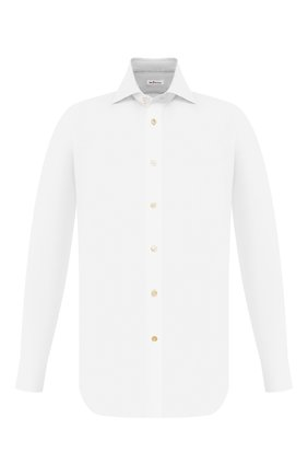 Мужская хлопковая сорочка KITON белого цвета, арт. UCIH000340100E | Фото 1