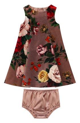 Женский комплект из платья и шорт DOLCE & GABBANA розового цвета, арт. L21DU9/FSWBS | Фото 1