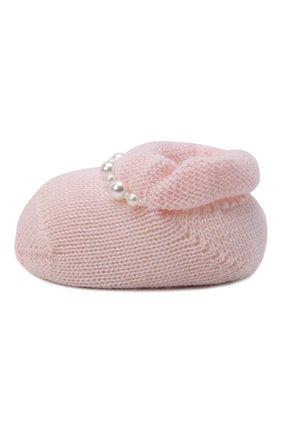 Детские комплект из пинеток и повязки на голову LA PERLA розового цвета, арт. 48532 | Фото 3