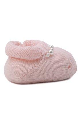 Детские комплект из пинеток и повязки на голову LA PERLA розового цвета, арт. 48532 | Фото 4