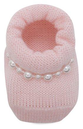 Детские комплект из пинеток и повязки на голову LA PERLA розового цвета, арт. 48532 | Фото 5