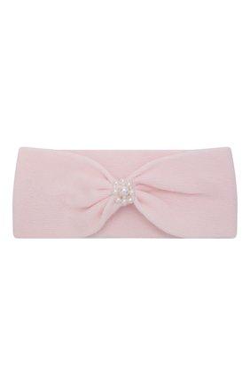 Детские комплект из пинеток и повязки на голову LA PERLA розового цвета, арт. 48532 | Фото 6