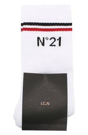 Детские хлопковые носки NO. 21 белого цвета, арт. N21463/N0027/N21Z1M | Фото 1