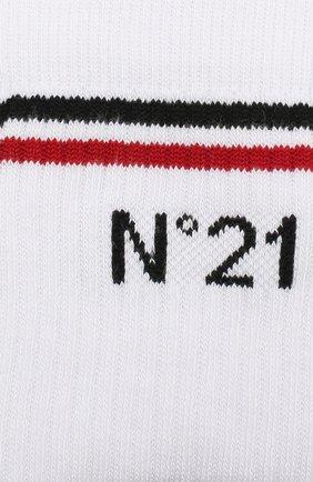 Детские хлопковые носки NO. 21 белого цвета, арт. N21463/N0027/N21Z1M | Фото 2