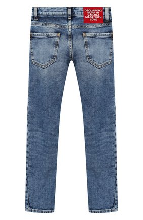 Детские джинсы DSQUARED2 синего цвета, арт. DQ01PW-D00VT   Фото 2