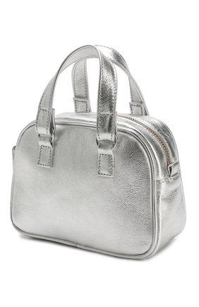 Детская кожаная сумка SIMONETTA серебряного цвета, арт. 1L0258/LE340 | Фото 2