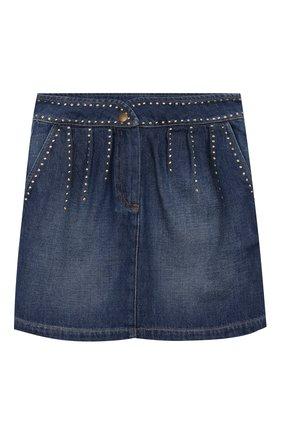 Детская джинсовая юбка INDEE синего цвета, арт. FAIR/DENIM/12Y-18Y | Фото 1