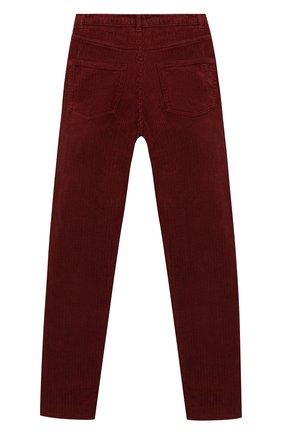 Детского вельветовые брюки INDEE бордового цвета, арт. F0REVER/HENNA/12Y-18Y | Фото 2