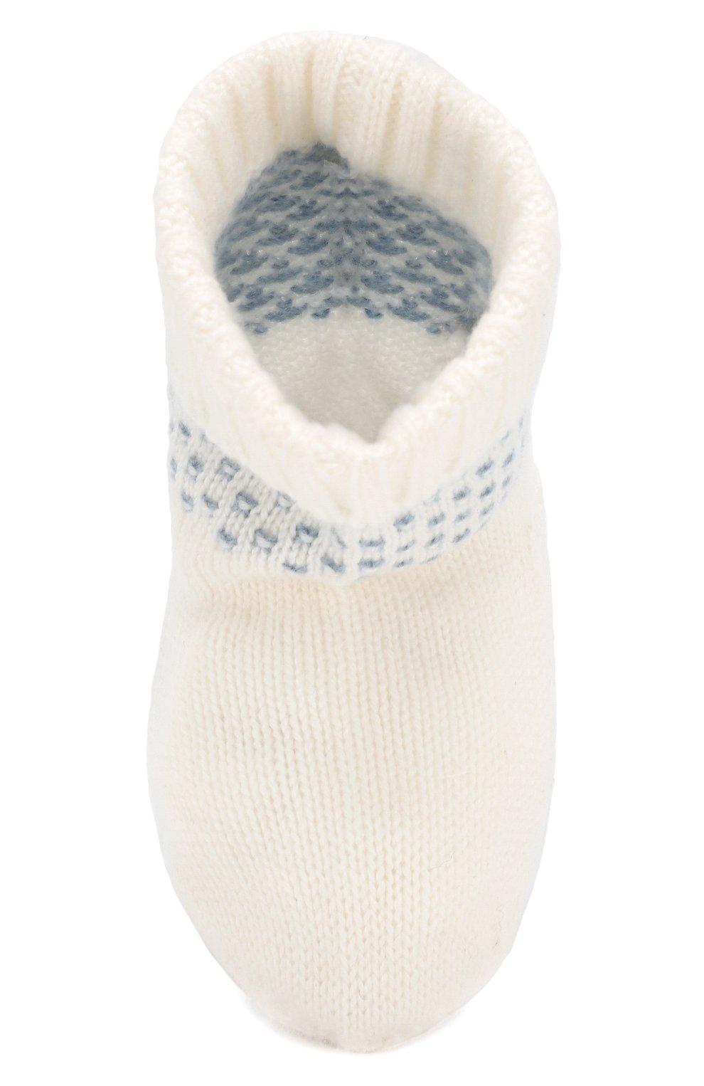 Детские кашемировые носки LORO PIANA голубого цвета, арт. FAI7363 | Фото 4