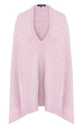 Женская кашемировое пончо RALPH LAUREN светло-розового цвета, арт. 434725439 | Фото 1
