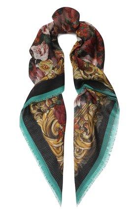 Женский платок из смеси кашемира и шелка DOLCE & GABBANA золотого цвета, арт. FS209A/GDQ32 | Фото 1