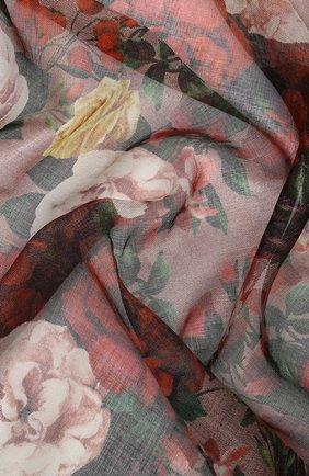 Женский платок из смеси кашемира и шелка DOLCE & GABBANA золотого цвета, арт. FS209A/GDQ32 | Фото 2