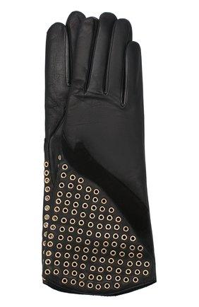 Женские кожаные перчатки AGNELLE черного цвета, арт. ESTELLE/C100 | Фото 1