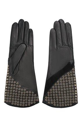 Женские кожаные перчатки AGNELLE черного цвета, арт. ESTELLE/C100 | Фото 2