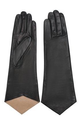 Женские кожаные перчатки AGNELLE черного цвета, арт. LINDA/S | Фото 2