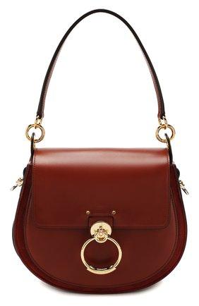 Женская сумка tess large CHLOÉ коричневого цвета, арт. CHC18WS152A37   Фото 1