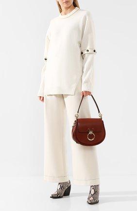 Женская сумка tess large CHLOÉ коричневого цвета, арт. CHC18WS152A37   Фото 2