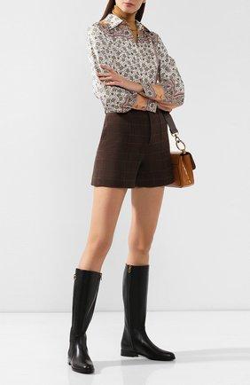 Женские кожаные сапоги rodeo DOLCE & GABBANA черного цвета, арт. CU0597/A3444 | Фото 2