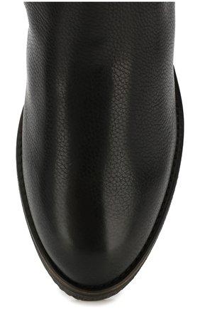 Кожаные ботинки с меховой отделкой | Фото №5