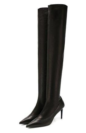 Женские кожаные ботфорты BALDAN черного цвета, арт. 2552/1/2 VITELL0 | Фото 1