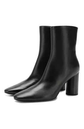 Женские кожаные ботильоны oval BALENCIAGA черного цвета, арт. 590994/WA8F4 | Фото 1