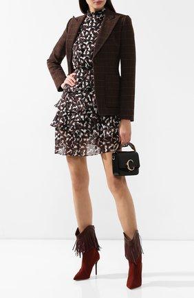 Женские текстильные ботильоны MALONE SOULIERS коричневого цвета, арт. PRESLEY MS 100-1 | Фото 2