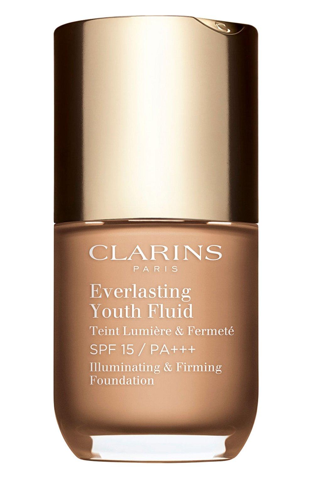 Женское устойчивый тональный флюид everlasting youth fluid spf 15, оттенок 110 CLARINS бесцветного цвета, арт. 80053013 | Фото 1