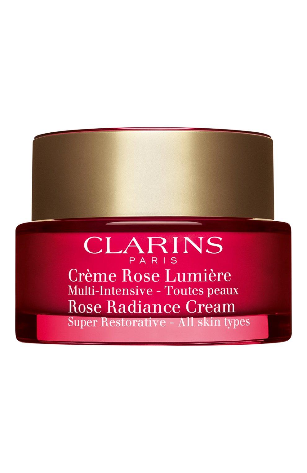 Женское восстанавливающий дневной крем с эффектом сияния для любого типа кожи CLARINS бесцветного цвета, арт. 80050528 | Фото 1
