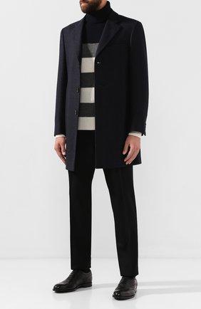 Мужской шерстяные брюки BERLUTI черного цвета, арт. R13TCU22-WAPV | Фото 2