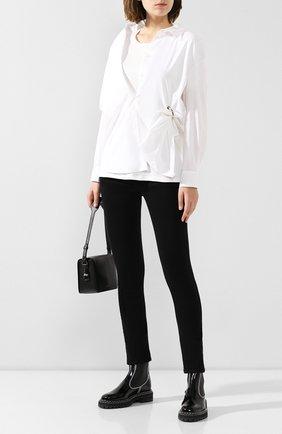 Женская хлопковая рубашка ACT N1 белого цвета, арт. PFT1912   Фото 2 (Материал внешний: Хлопок; Рукава: Длинные; Материал подклада: Хлопок; Принт: Без принта; Женское Кросс-КТ: Рубашка-одежда; Статус проверки: Проверена категория; Длина (для топов): Удлиненные)